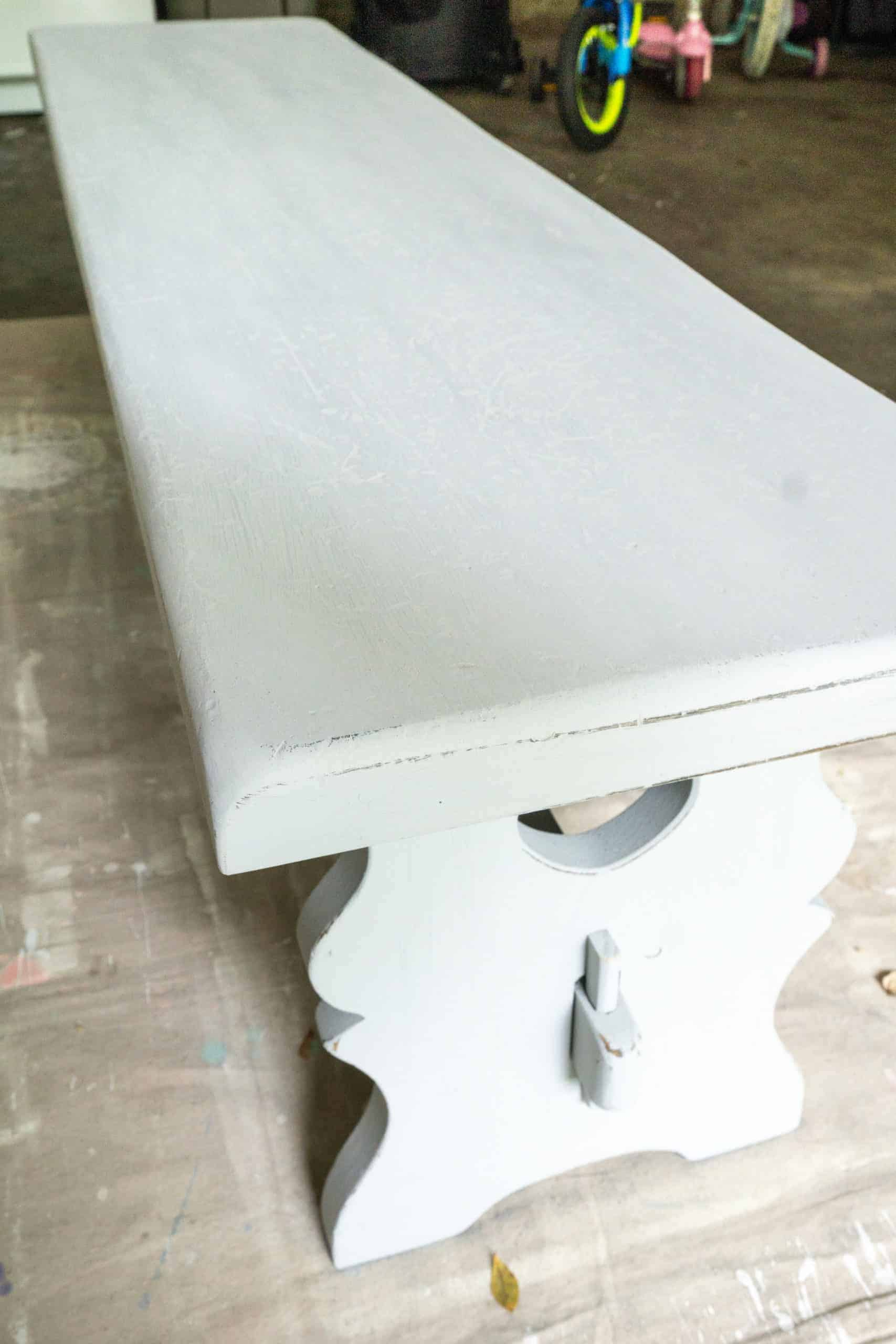 This thrift store bench makeover was both cheap and easy. Here's a step-by-step for how I turned an ugly duckling into a swan.