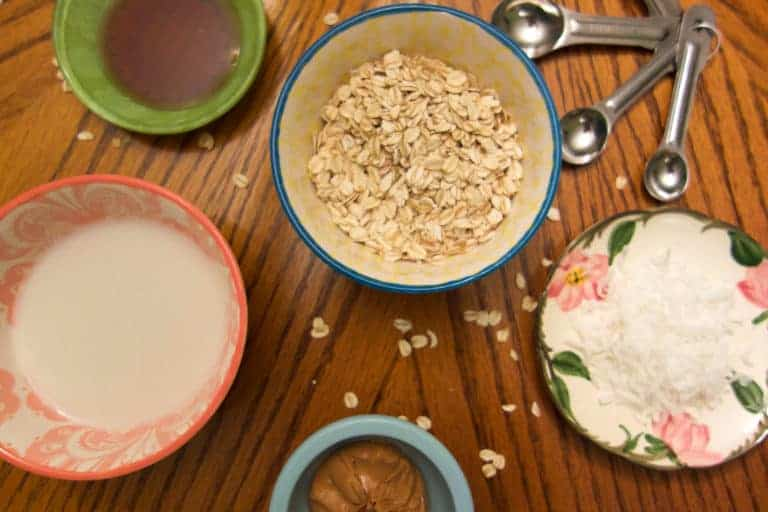 Peanut Butter Coconut Overnight Oats