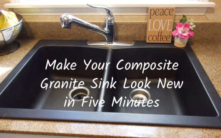 Make Your Composite Granite Sink Look New in 5 Minutes