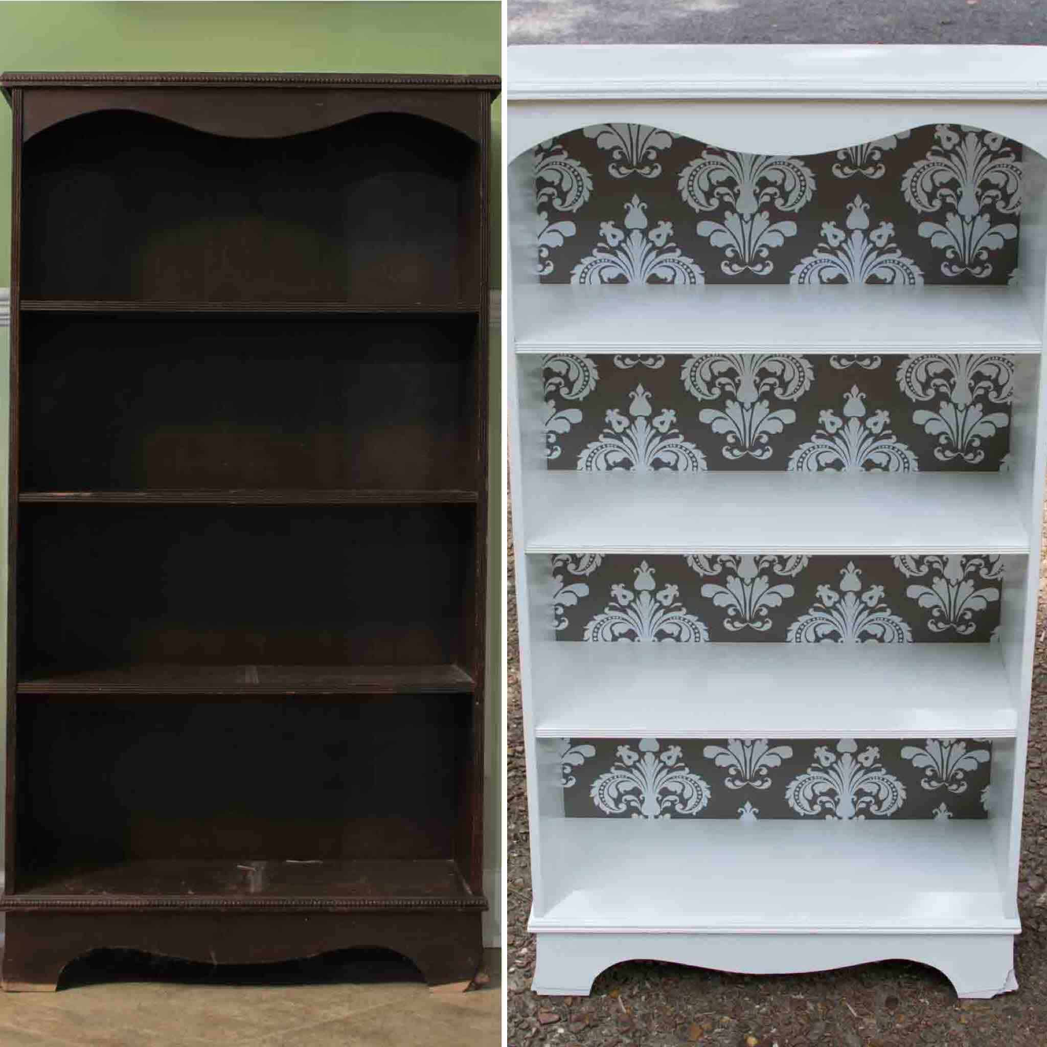 Learn how I completed this bookcase repurpose