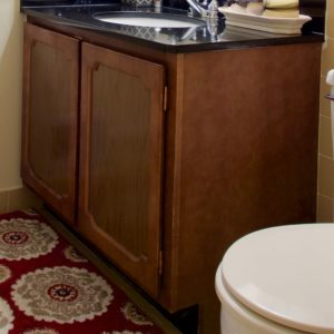 Here's a fantastic, and easy!, way to paint cabinets without the work of sanding.