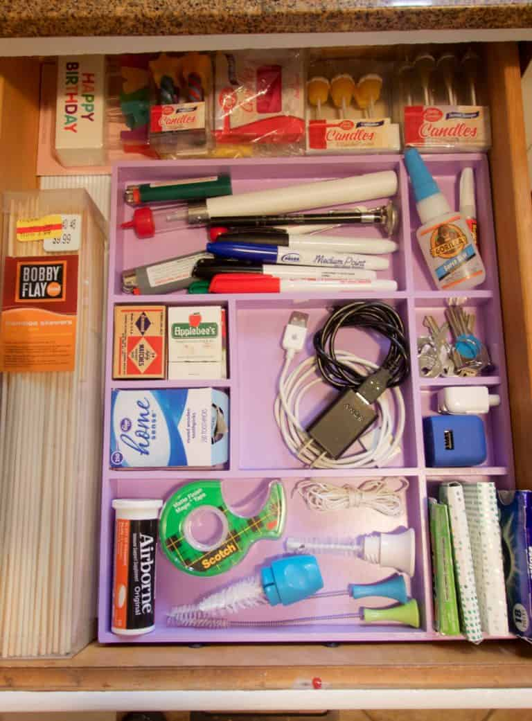 Fast and Creative Solution for Organizing that Junk Drawer