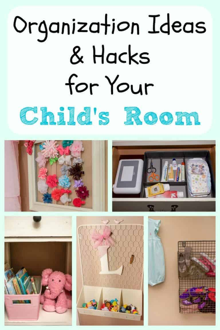 Organization Ideas and Hacks for Your Child's Room