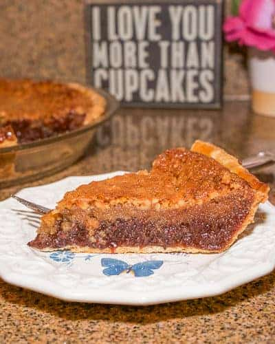 Have you ever had dixie pie? If not, this is a must try. Chocolate and walnuts mixed with a pecan pie like filling make for a delicious dessert.
