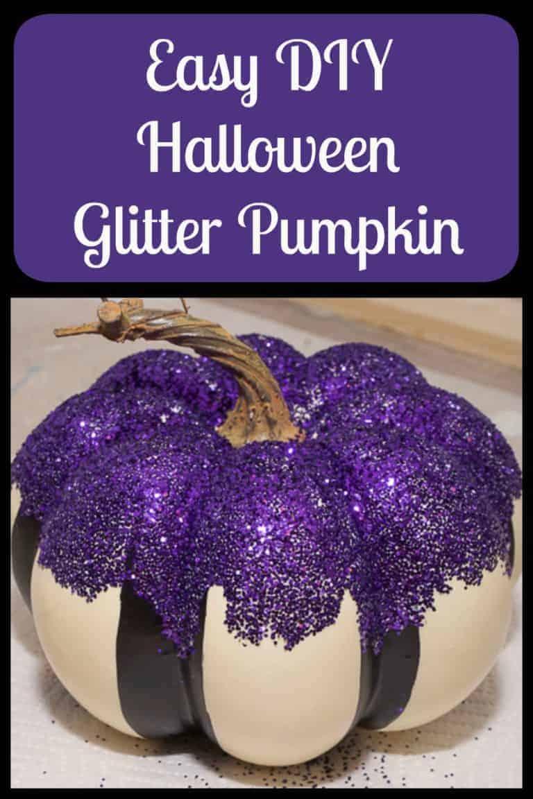 Easy DIY Halloween Glitter Pumpkin