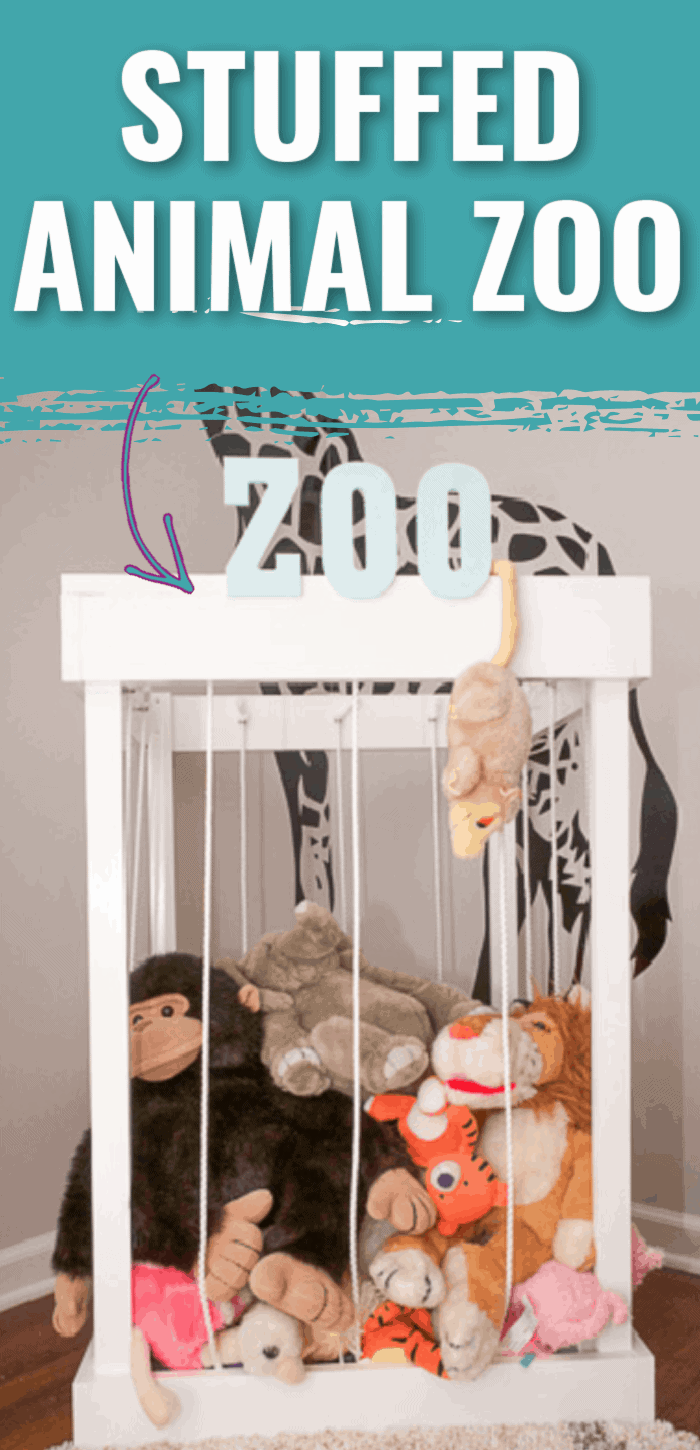 Are your kids stuffed animals taking over the house? This step-by-step tutorial shows you how to create an adorable DIY stuffed animal zoo.
