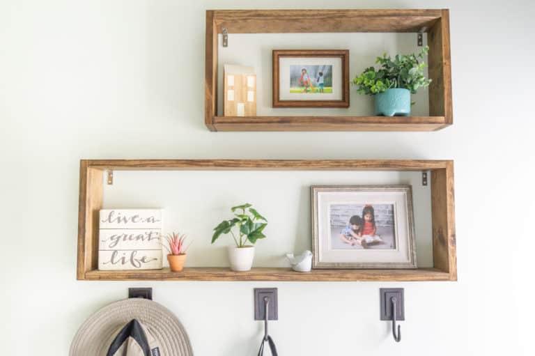 Simple DIY Box Shelves