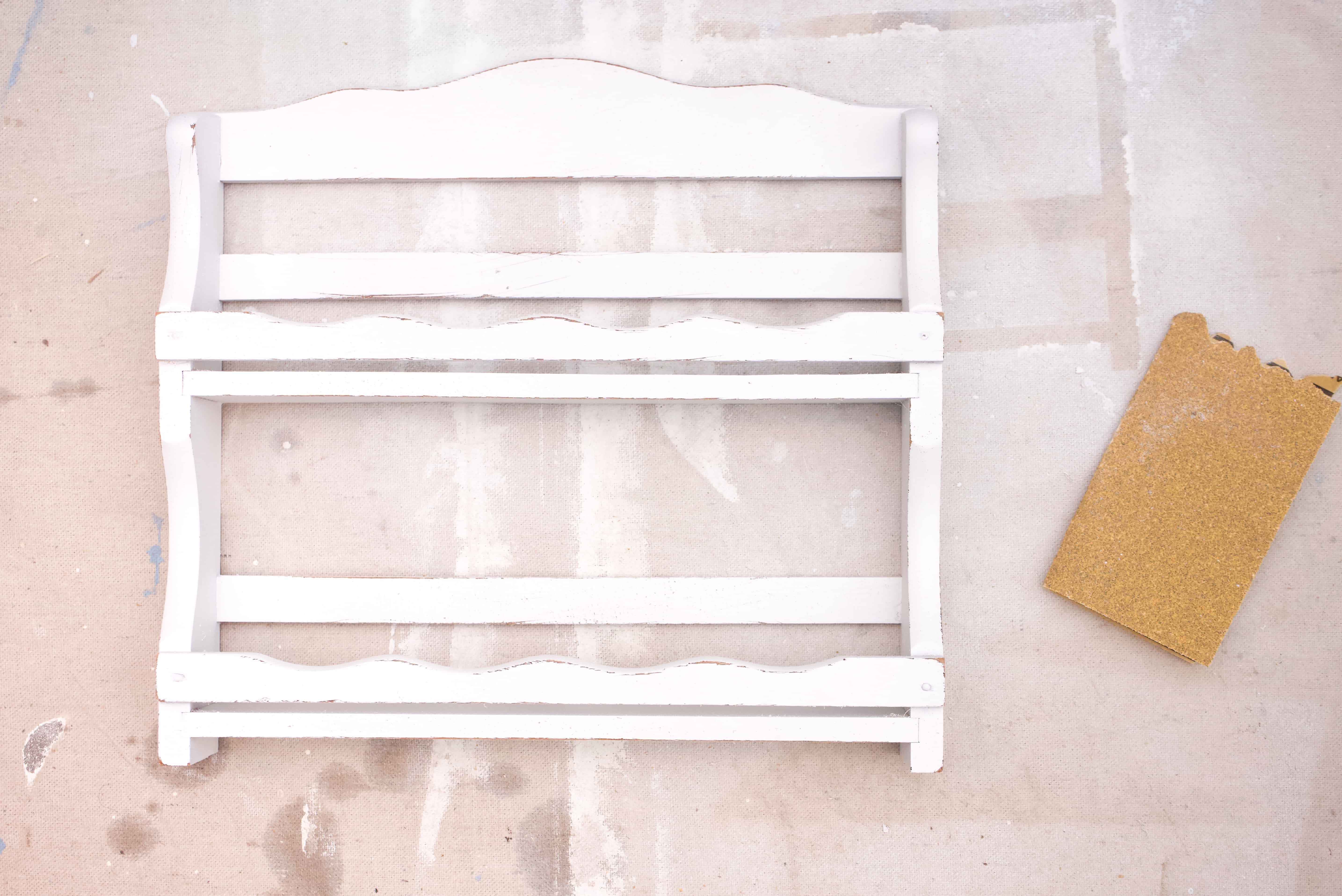 Check out this simple spice rack upcycle. It's so easy to turn thrift store finds into adorable decor.