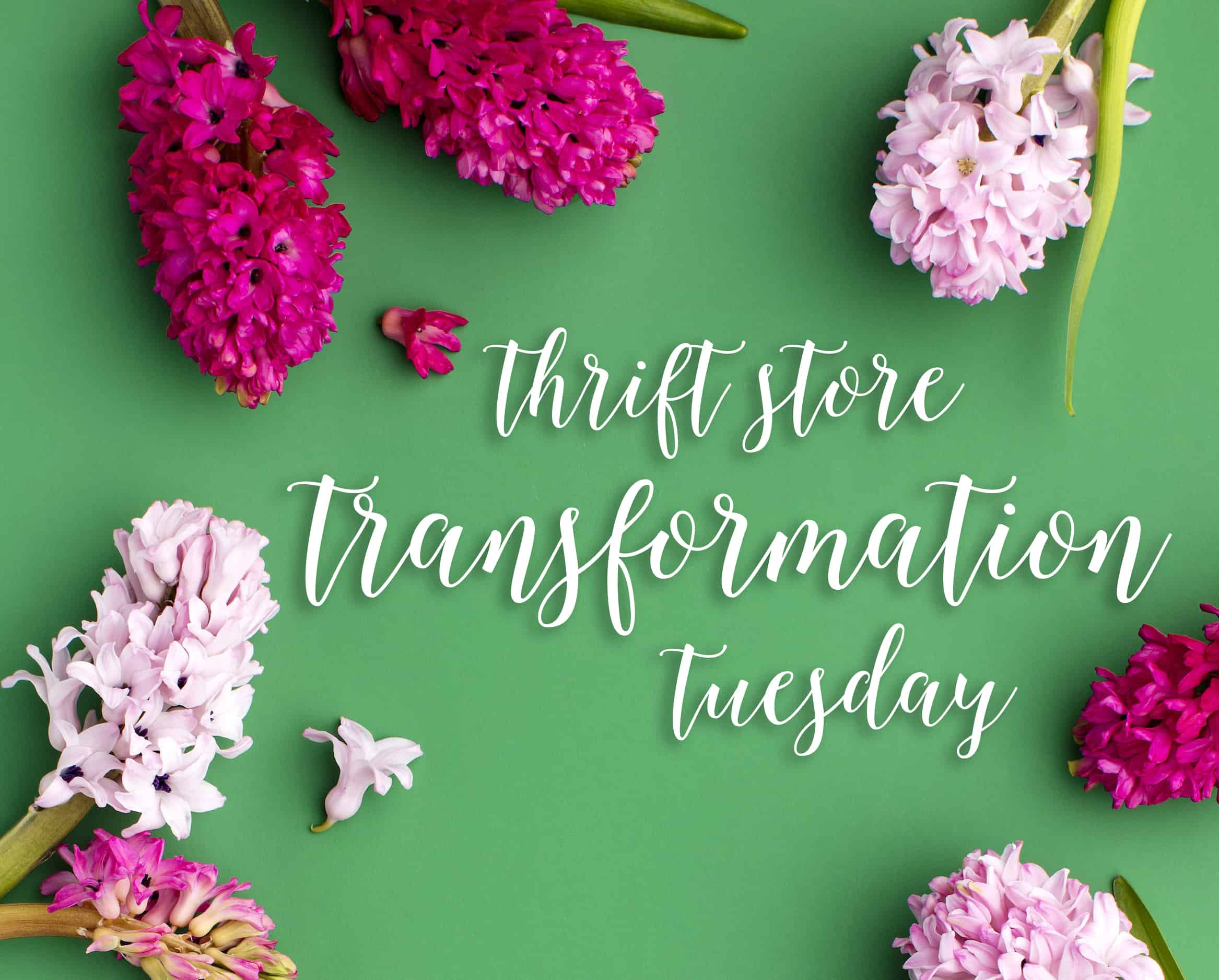 Join us the second Tuesday of every month for thrift store transformations! I've joined with a fantastic group of bloggers to show you that beautiful decor does not have to be expensive.