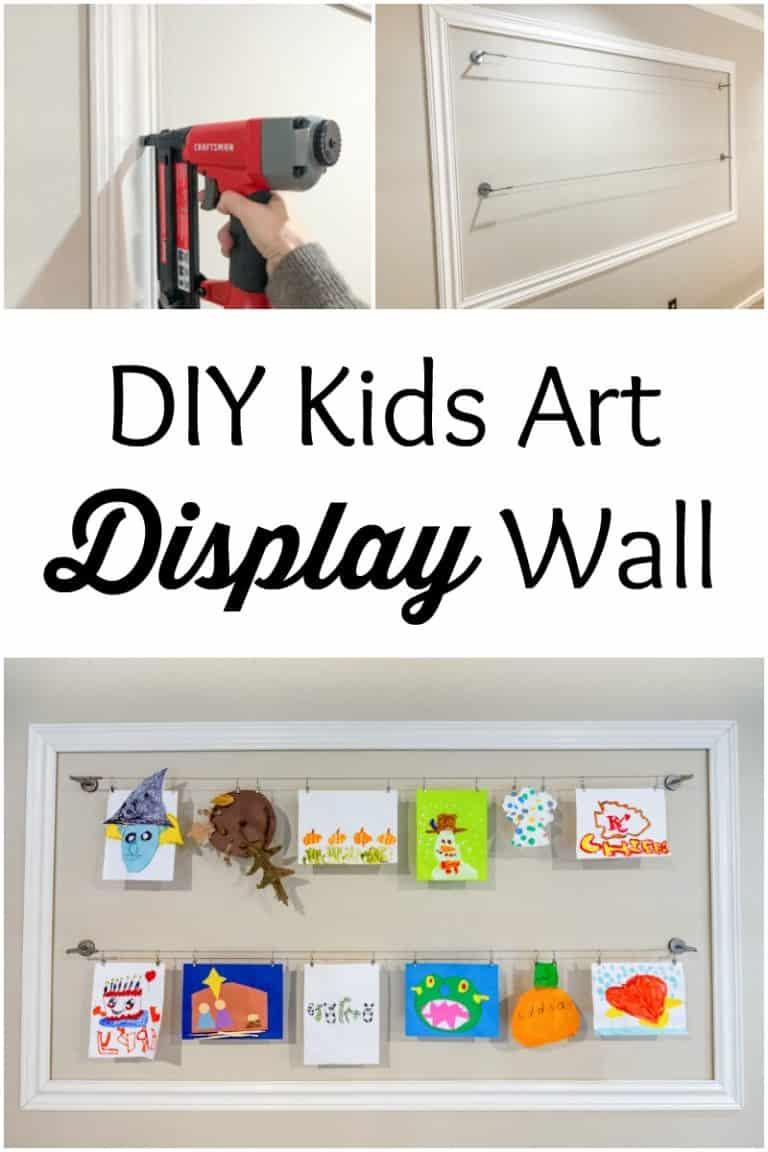 DIY Kids Art Display Wall