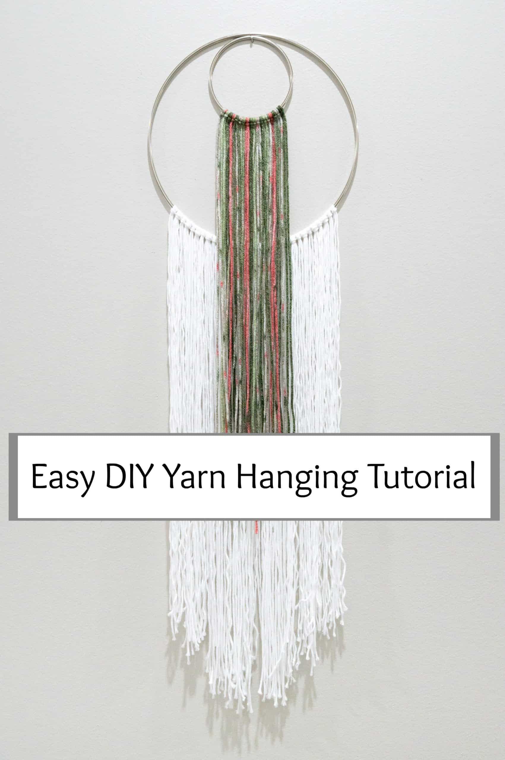 I love being able to create inexpensive decor that suits my own taste. If that sounds like you, too, then you'll love this yarn hanging tutorial.