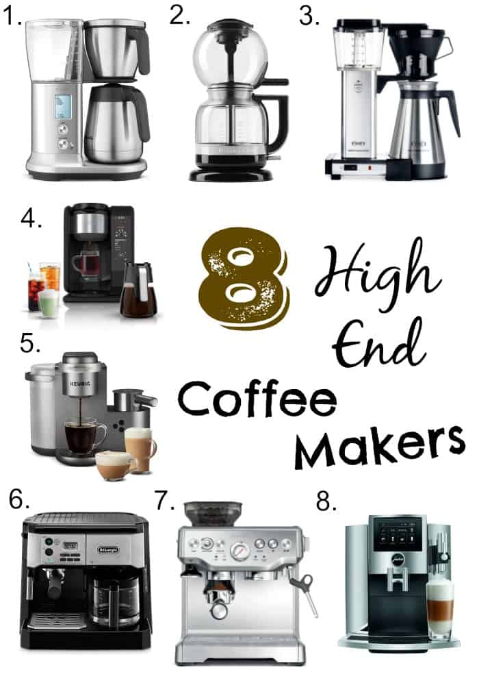 Be your own barista, and achieve the perfect cup of coffee from the comfort of your own home with one of these high end coffee makers.