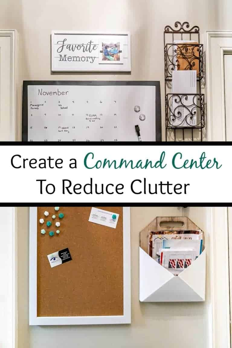 Create a Command Center to Reduce Clutter