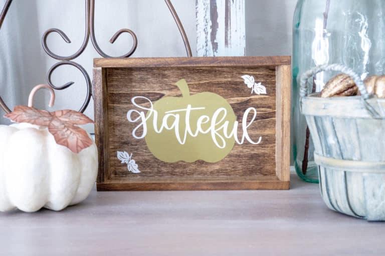 DIY Fall Sign Using Cricut, Plus a Bonus!