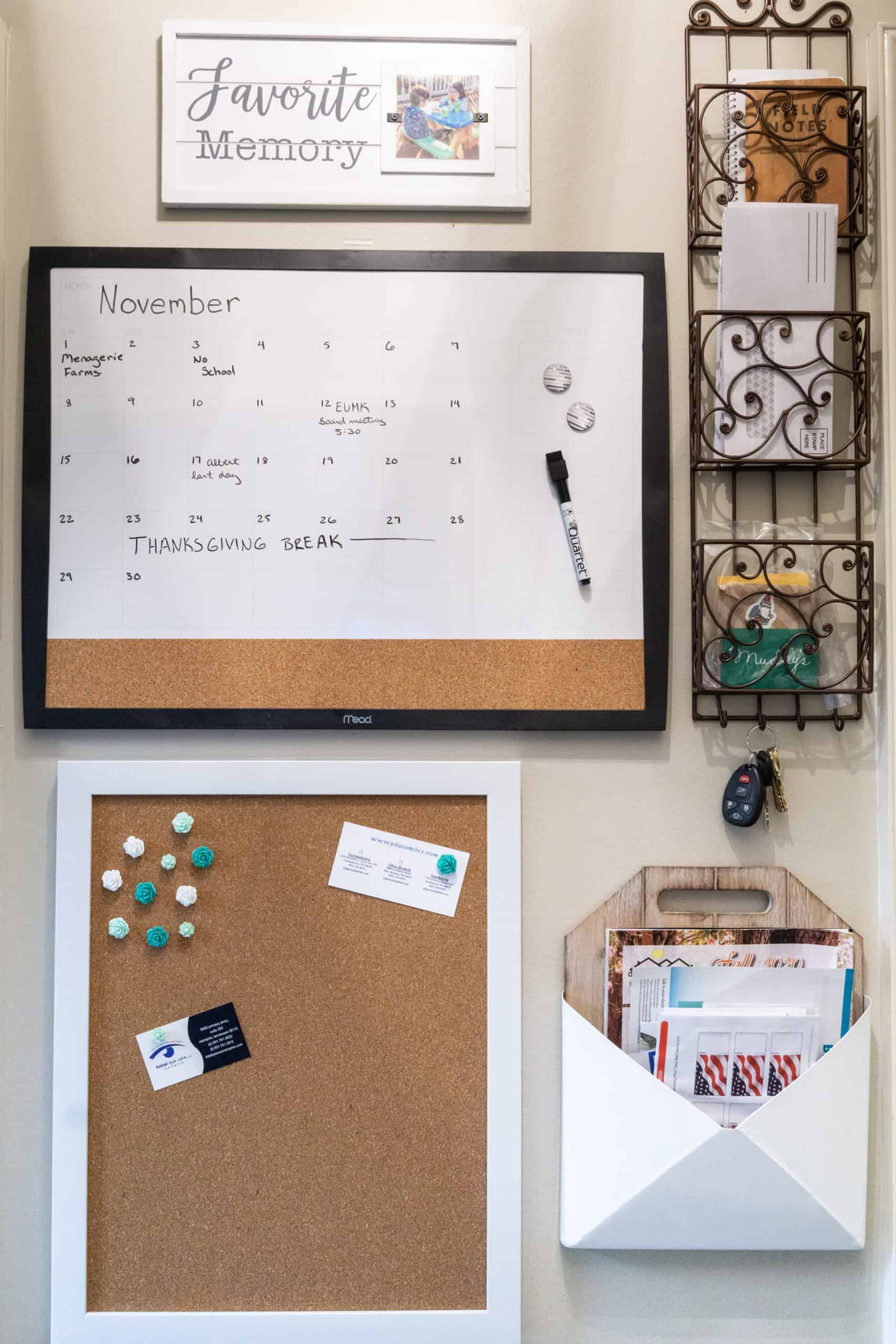 Here is how to easily create a command center to reduce clutter once and for all.