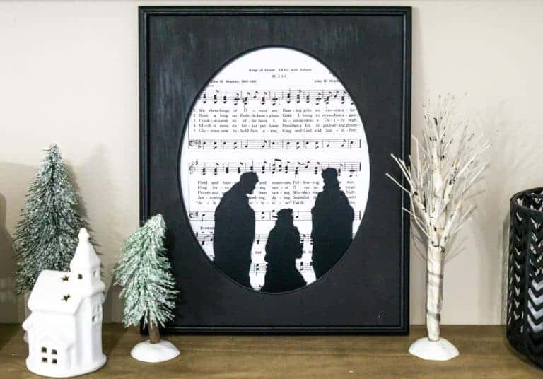 Framed DIY Sheet Music with Free Printables
