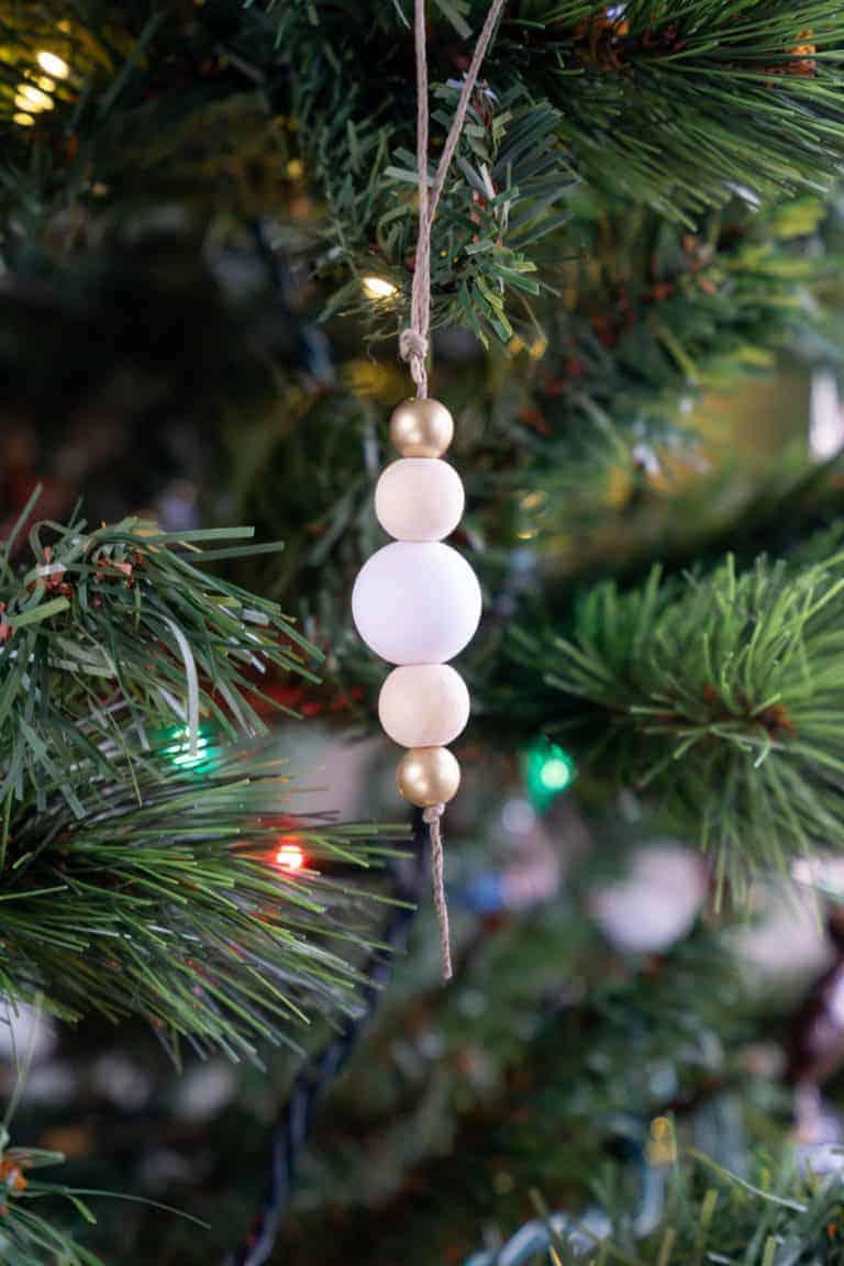 Easy Wood Bead Ornaments