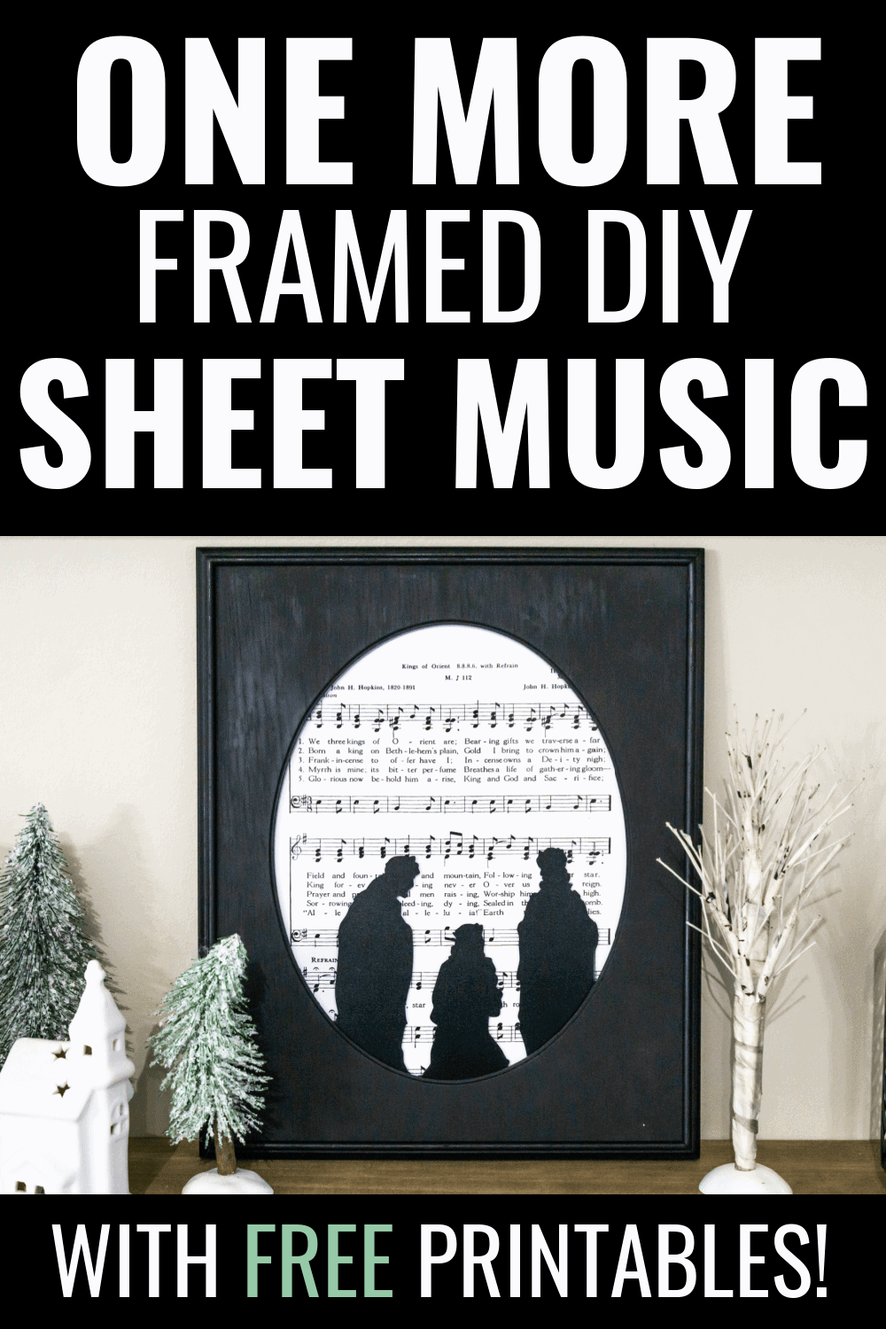 Sheet music can be a great addition to your decor.  I am loving these framed DIY sheet music pieces I just put together for the holidays.