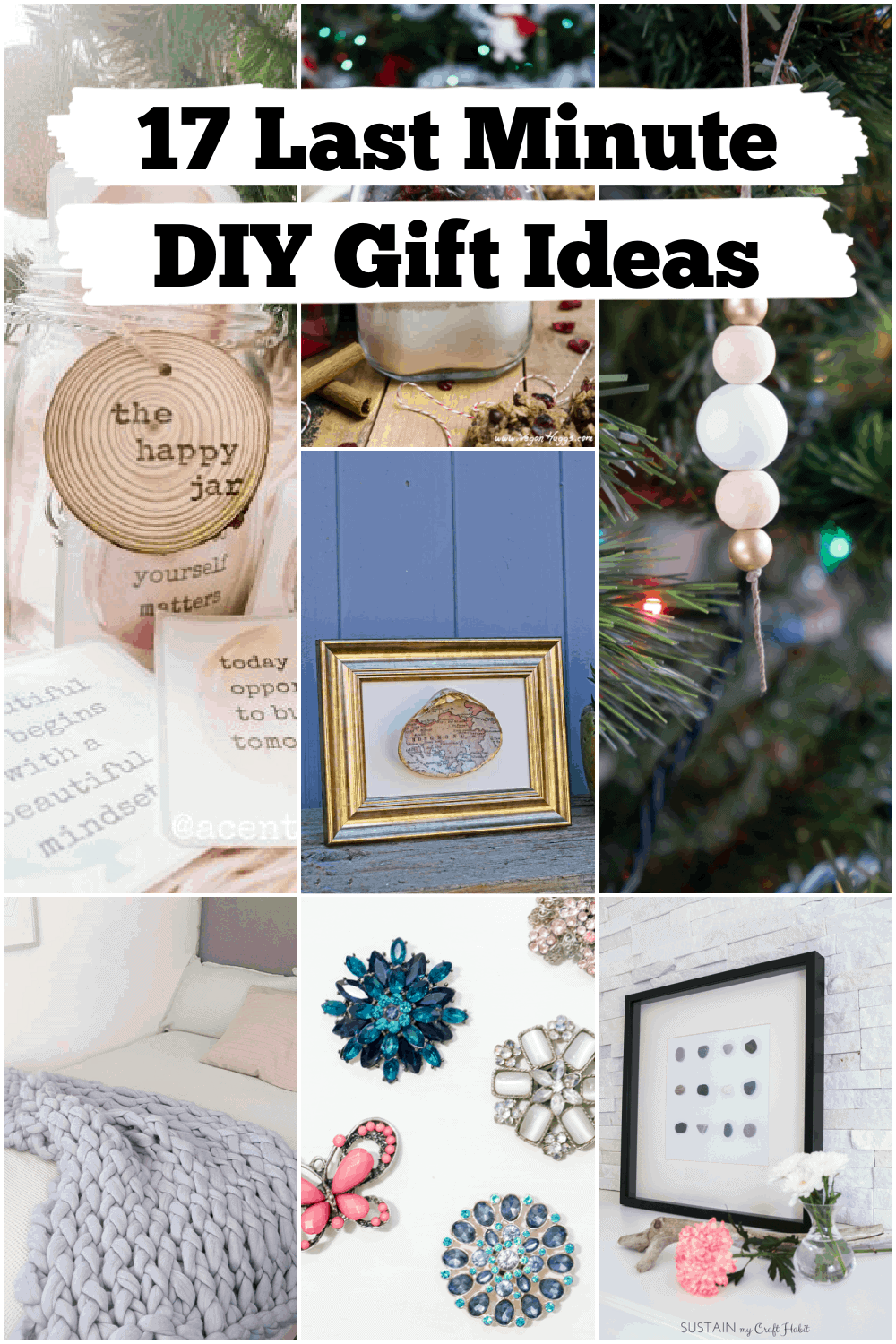 Are you in need of a last minute gift for someone?  If so, check out these amazing last minute DIY gift ideas.