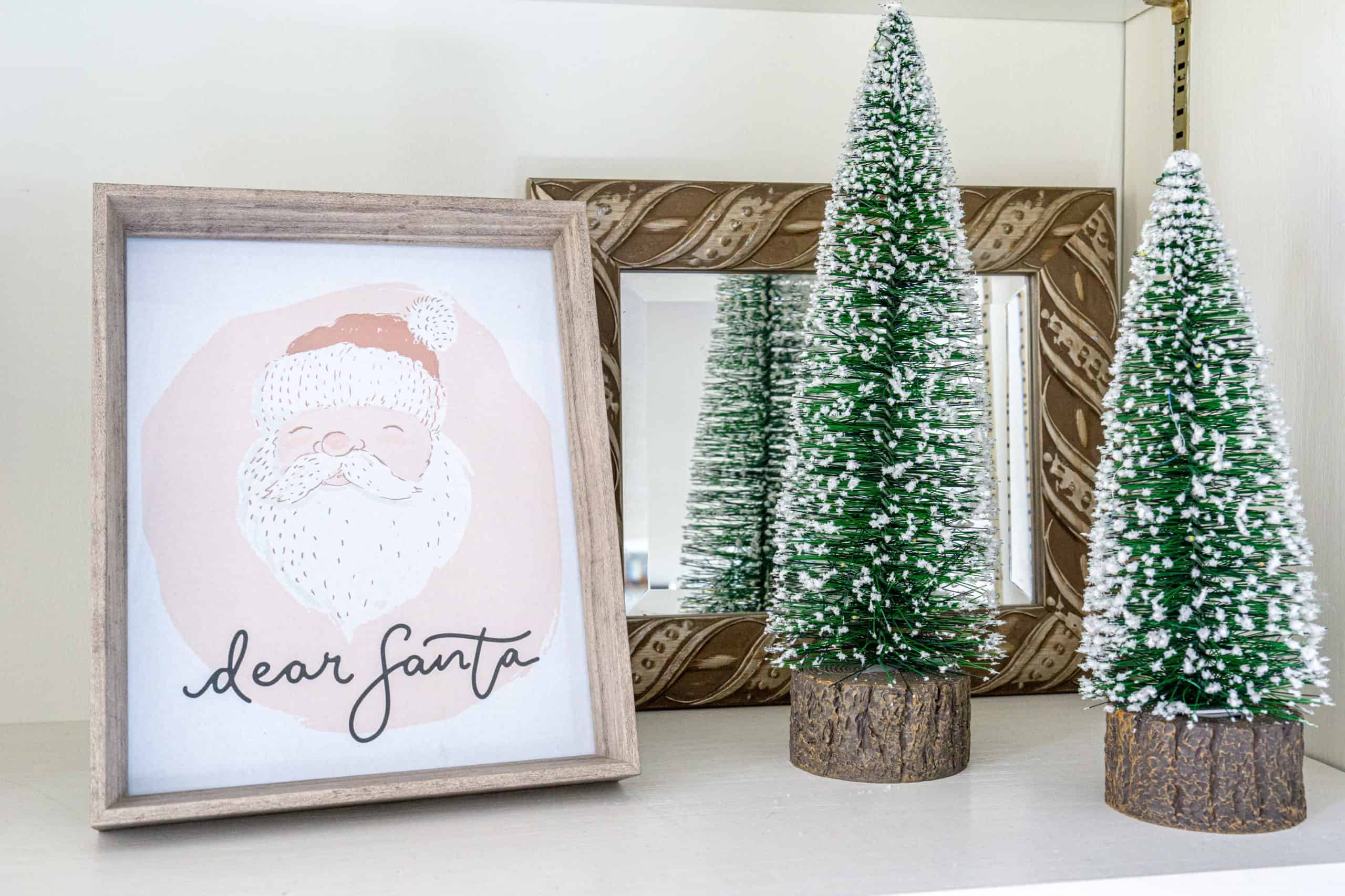 Add some holiday touches to your child's room with these free nursery Christmas art printables.