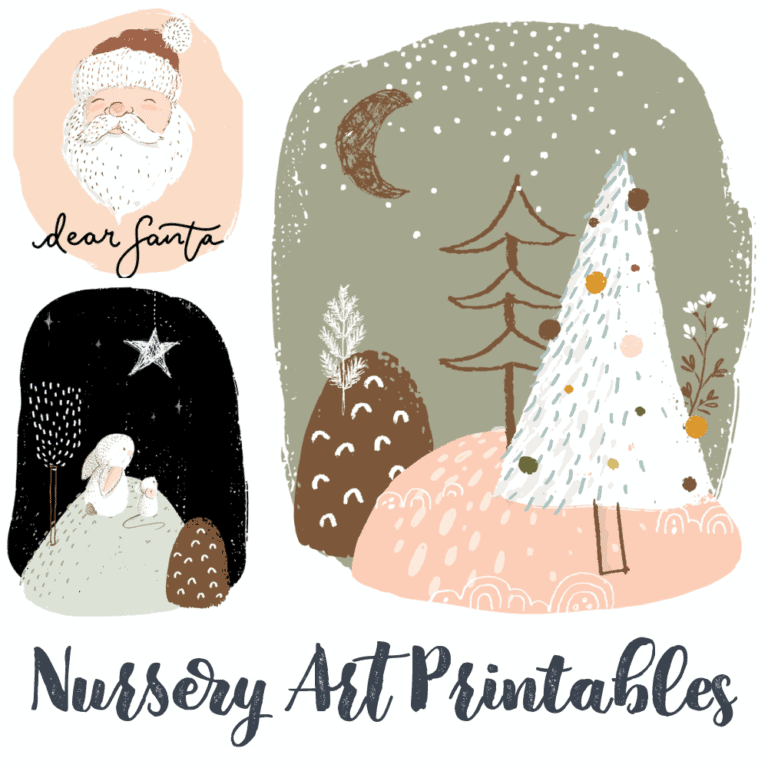 Free Nursery Christmas Art Printables