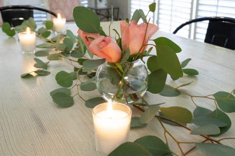 Simple Romantic Table Runner