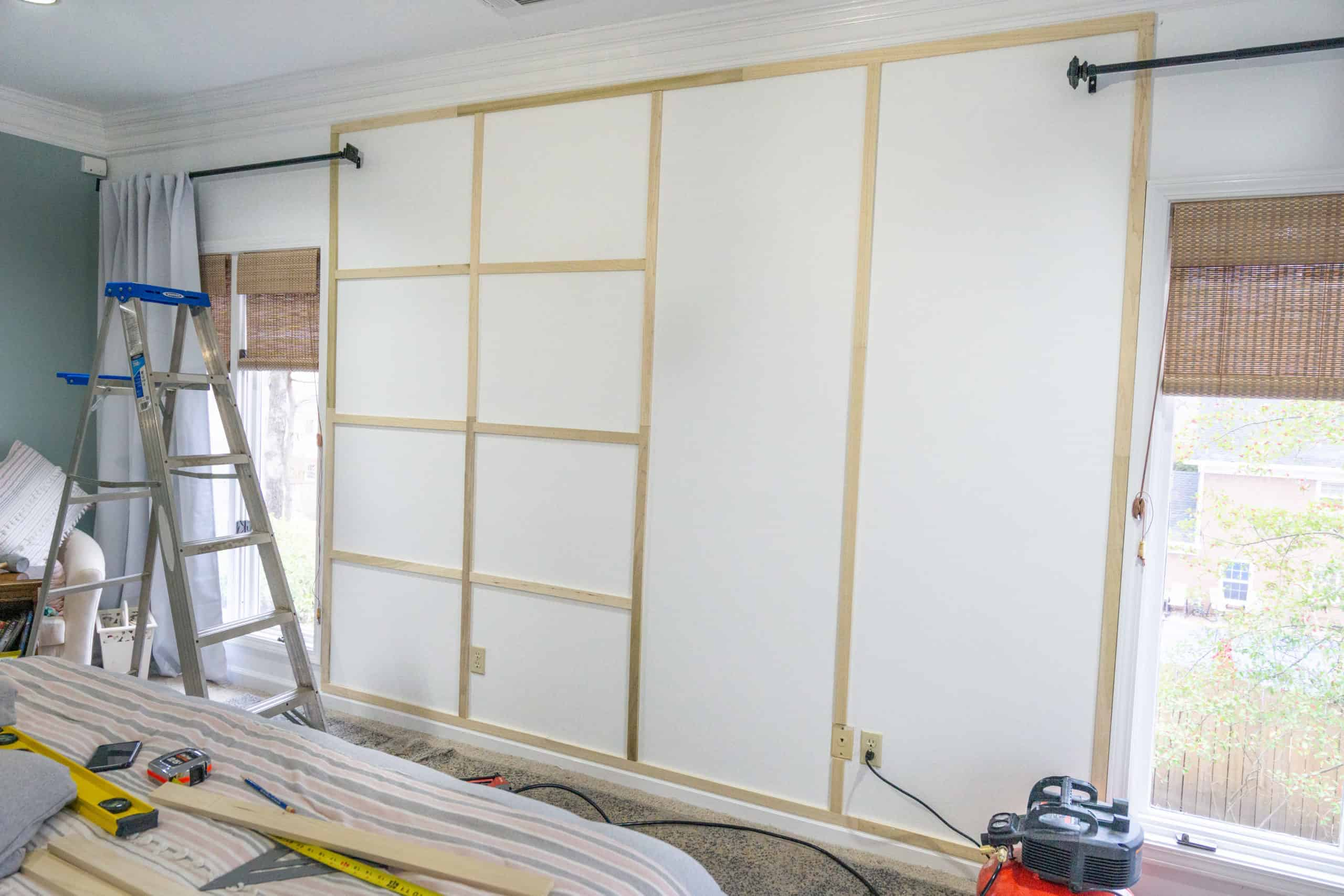 Accent walls can quickly elevate the style of any room.  Let me show you how to easily install a wood trim accent wall.