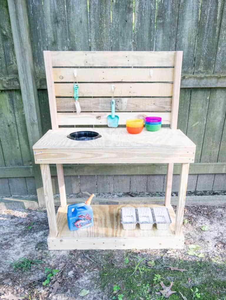 Inexpensive DIY Mud Kitchen