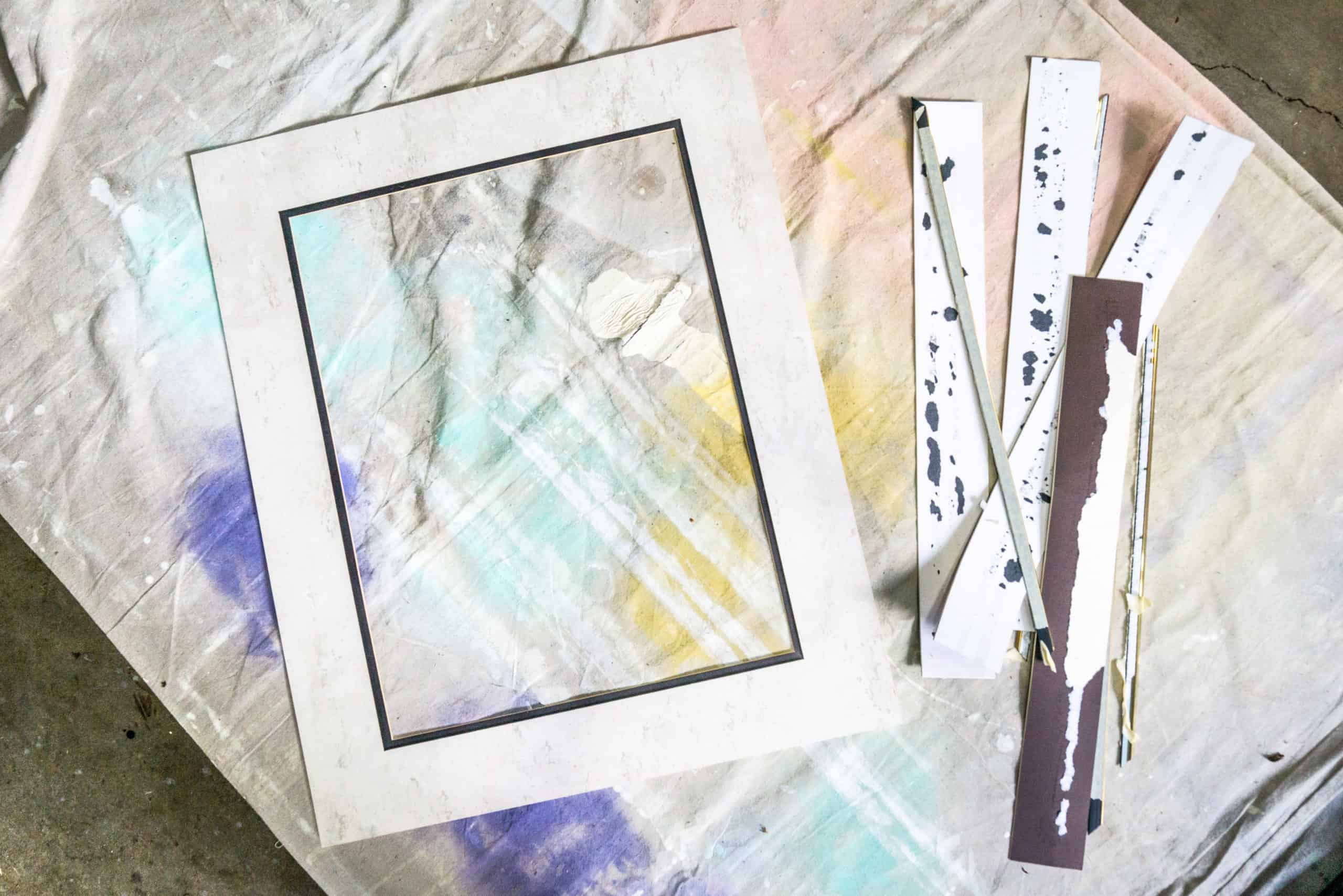This step-by-step tutorial shows you just how easy it is to cheaply update framed art, in order to better match your decor.