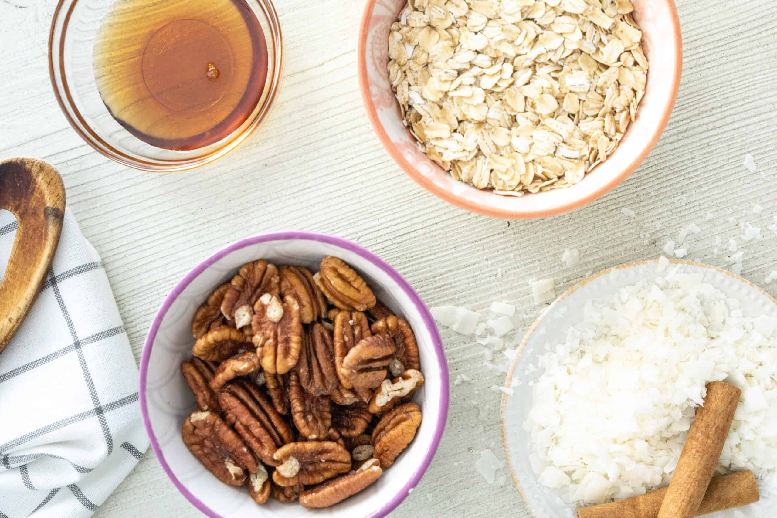 This homemade maple pecan granola is vegan, gluten free, and so easy to make.