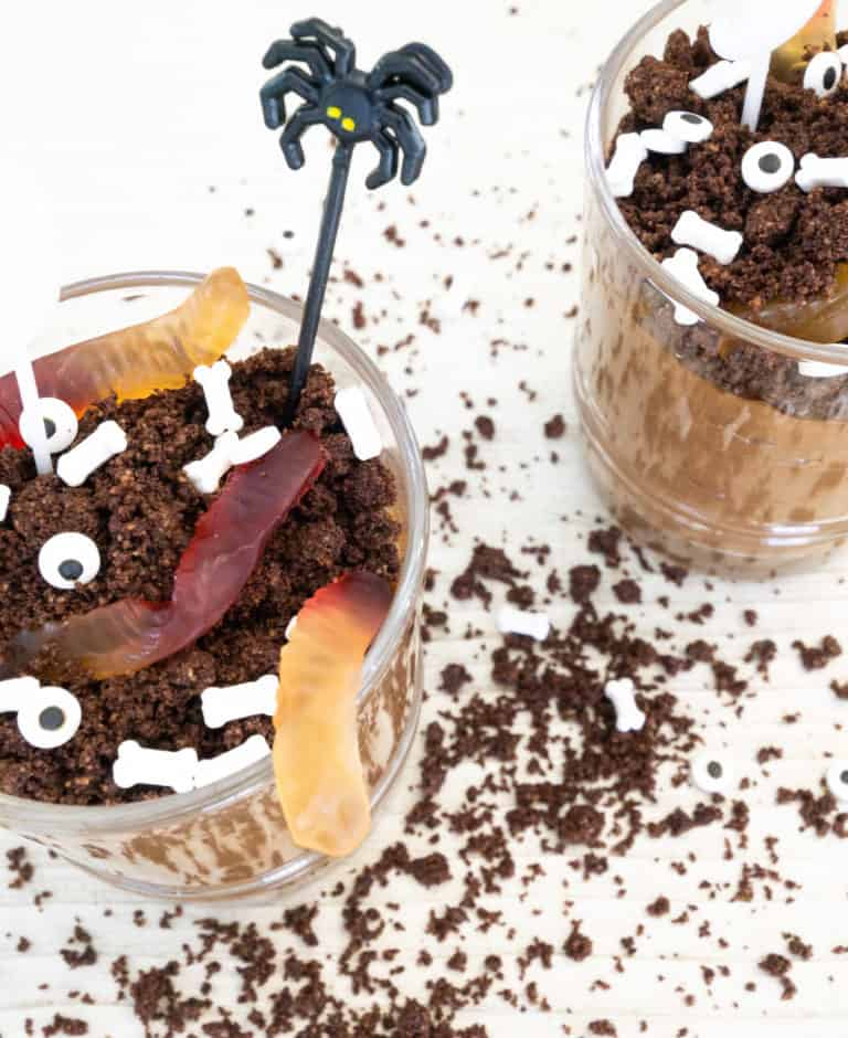 Healthy Halloween Dirt Cups