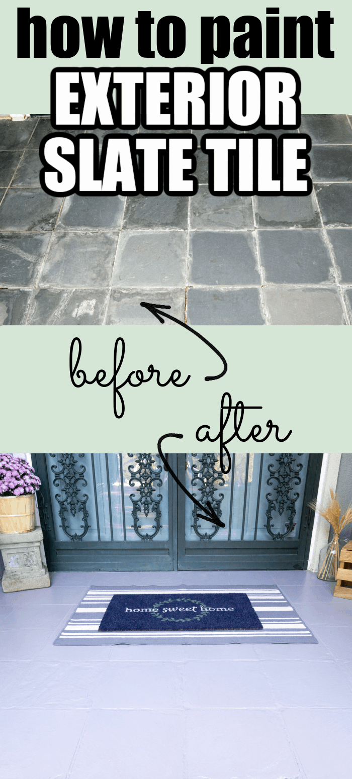 Let me show you how to paint exterior slate tile and make it look brand new again!